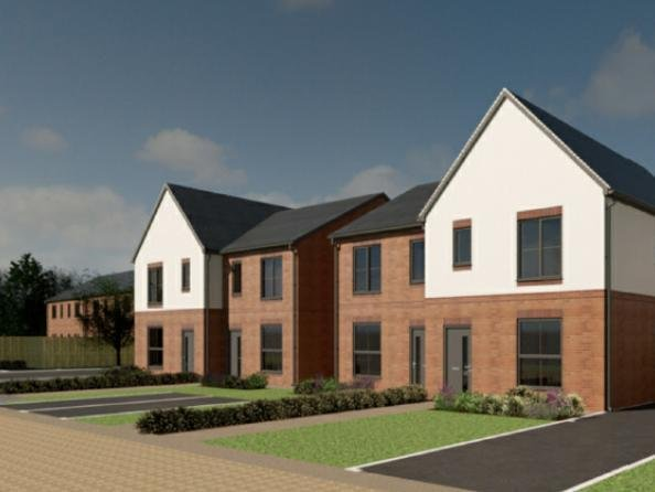 An artist's impression of the housing plans for the Horsforth Campus.