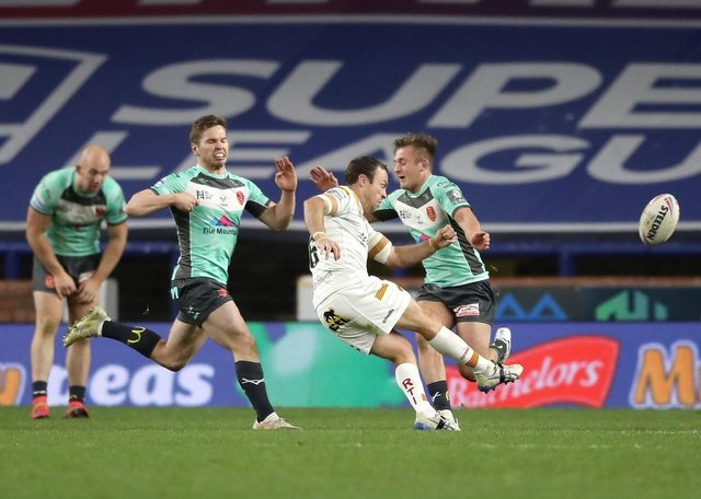 James Maloney's drop-goal winner for Catalans against Hull KR could become a thing of the past if Super League follows a decision by the Rugby Football League to put golden point on hold for this season. Picture: Martin Rickett/PA Wire.