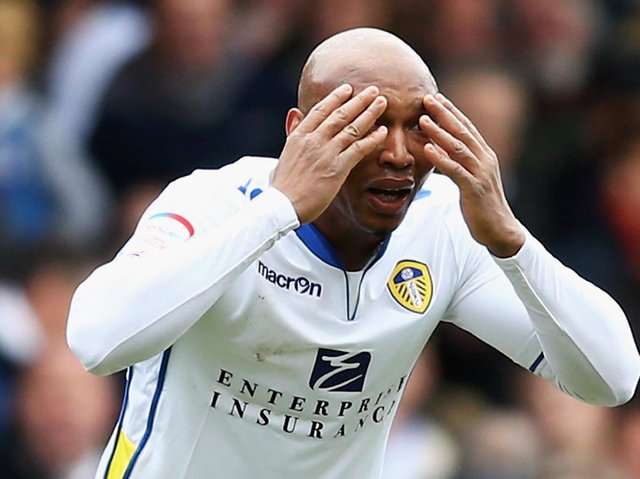 SENT OFF - El-Hadji Diouf was given his marching orders by Graham Scott for a gesture to the Brighton fans during a Championship defeat for Leeds United. Pic: Getty