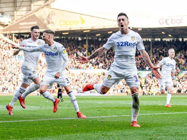 Leeds United playmaker Pablo Hernandez celebrates his winner against Millwall. Pic: Getty