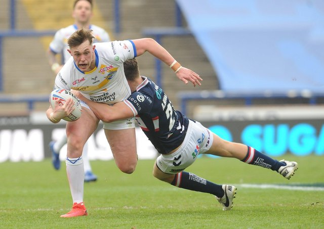 STAR MAN: Jack Broadbent impressed our jurors against Wakefield Trinity on Saturday. Picture: Steve Riding.