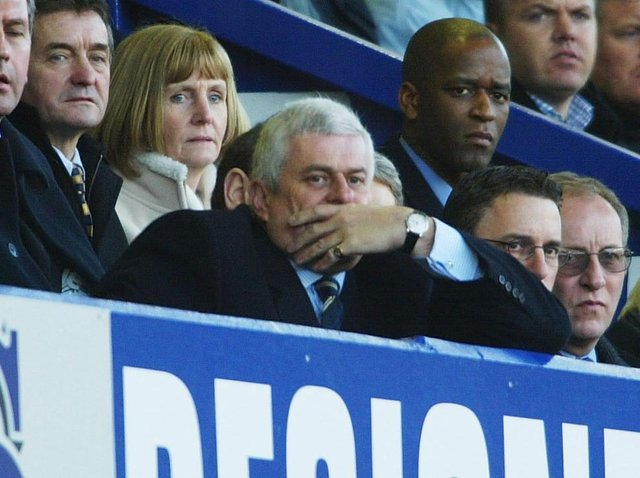 Former Leeds United Peter Ridsdale watches on. Pic: Getty