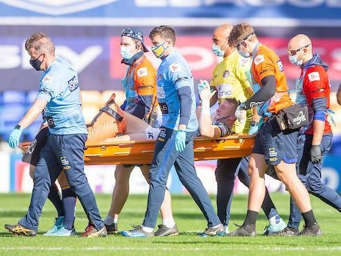 Harry Newman has been on the casualty list since suffering a badly broken leg last September. Picture by Allan McKenzie/SWpix.com.