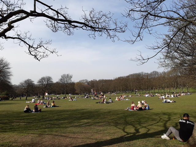 Crowds have begun to return to Woodhouse Moor in Hyde Park