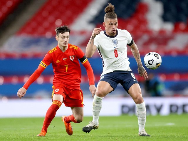STEP UP - Leeds United midfielder Kalvin Phillips has delighted England boss Gareth Southgate with the way he's handled the step up to international competition. Pic: PA