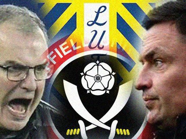 PRESENT AND PAST: Leeds United head coach Marcelo Bielsa, left, and Sheffield United boss Paul Heckingbottom, right. Graphic by Graeme Bandeira.