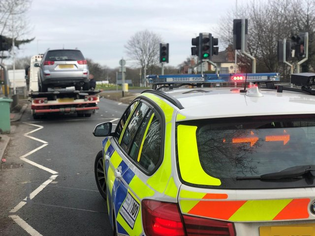 Officers stopped six drivers who were reported for speeding
