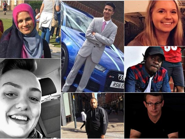 We remember the recent victims of knife crime in Leeds. Anti-clockwise from top left: Abida Karim, Jodi Miller, Keith Harrower, St John Lewis, Tcherno Ly, Poppy Devey Waterhouse, Irfan Wahid