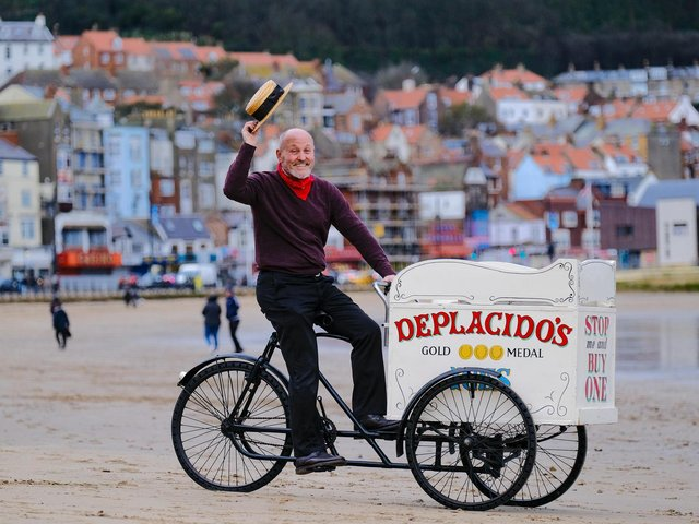 The early 20th century ice cream cart which used to operate on Scarborough's South Bay beach can be seen as part of the display at the town's art gallery in The Crescent