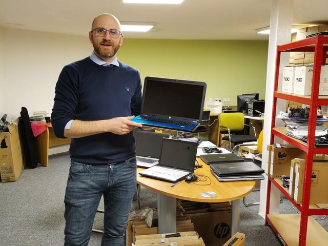 Pudsey residents have rallied behind the cause and donated an array of old laptops and devices which would otherwise not have been usable to Pudsey Computers.