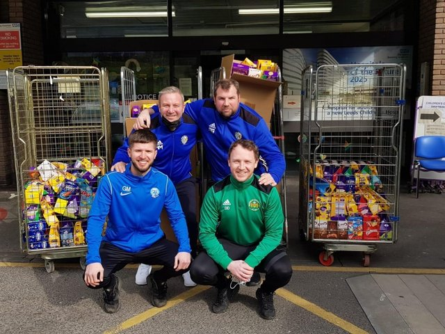 Main Line Social, Wortley Boys and Beeston St Anthony's have donated £750 worth of Easter eggs to Leeds Children's Hospital