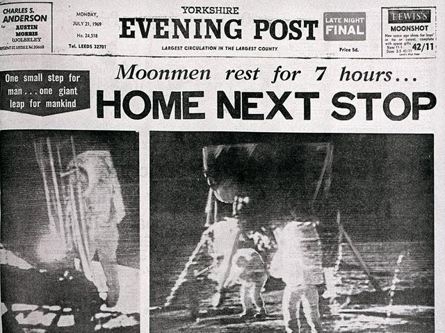Yorkshire Evening Post's front page from 1969.