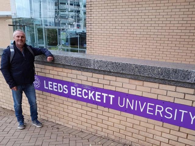 Dean Fletcher who is training to be a maths teacher at Leeds Beckett university.