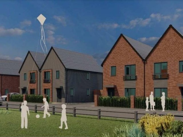 An artist's impression of how the development could look.