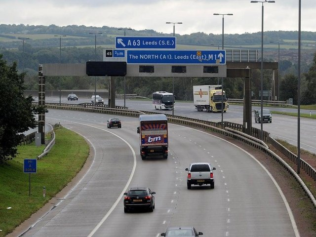 Stock photo of A1 in Leeds.