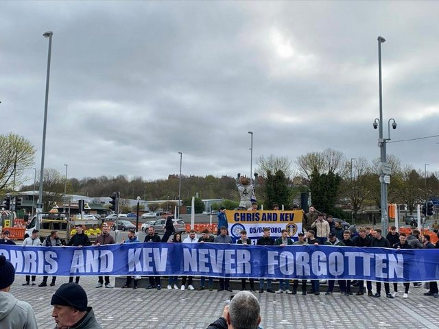 RESPECTS: From Leeds United's supporters at Elland Road.