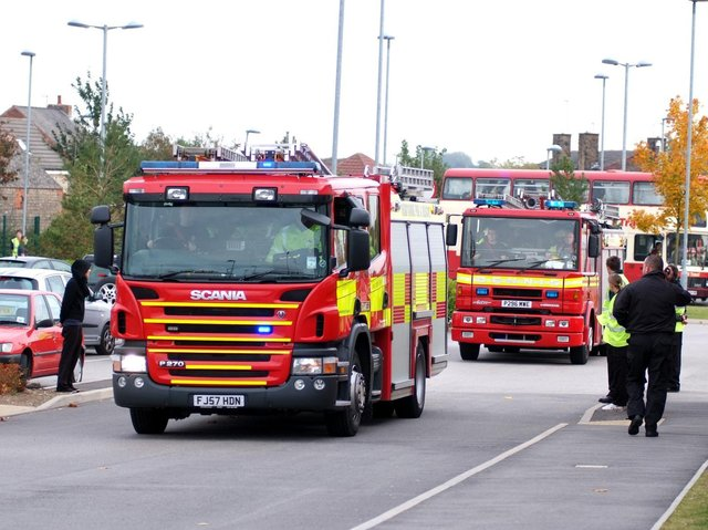 Fire engines stock image