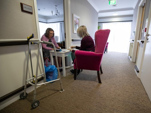 Care home residents will be allowed a second regular indoor visitor from April 12