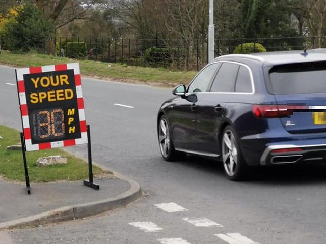 The speed awareness device (Photo: WYP)
