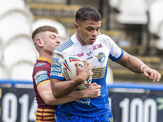 Corey Hall in pre-season action against Huddersfield. Picture by Tony Johnson.