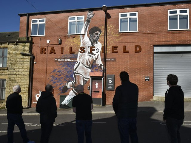 STUNNING: The giant Gary Speed mural in Bramley by artist Claire Bentley-Smith - who is also known as Poshfruit. Picture by Steve Riding.