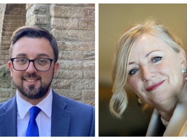 Candidates for West Yorkshire mayor Matt Robinson (Conservative) and Tracy Brabin (Labour). Photos: Submitted/PA