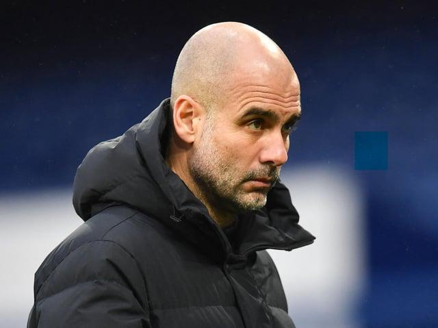 Manchester City head coach Pep Guardiola. Pic: Getty