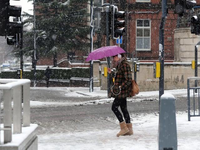 Previous snowfall in Leeds city centre