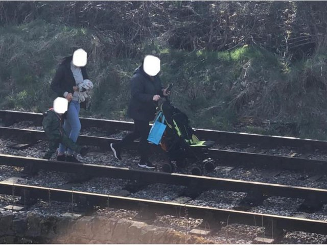 Robbie Moore - Member of Parliament for Keighley and Ilkley - told residents to 'stay off the tracks' after he was sent the image of two adults with a child 'walking along the Keighley and Worth Valley Railway'.