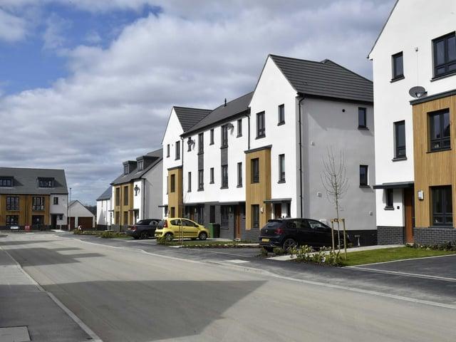 Homes on the Thorpe Park housing development in east Leeds. Photo: Steve Riding