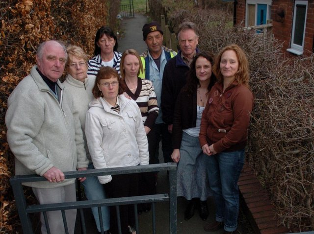 Residents of Murton Close launched a campaign to get this ginnel closed.