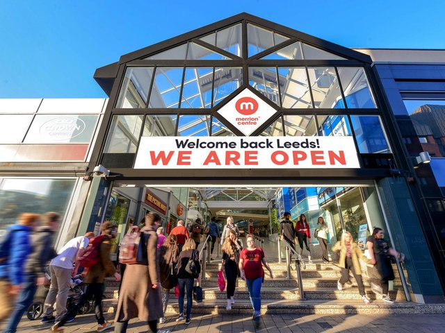 The shops in the Merrion Centre will reopen on April 12.