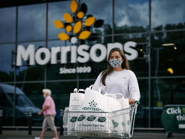 Morrisons announces today that it will remove all plastic 'bags for life' from every store nationwide