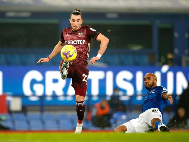 NOT AVAILABLE - Jack Harrison cannot play for Leeds United against Manchester City under the terms of his loan deal. Pic: Getty
