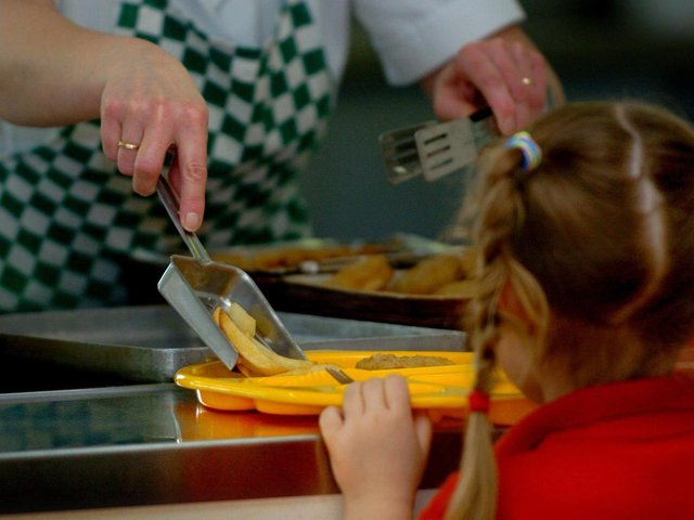 The number of children claiming free school meals has risen by nearly 5,000 in just one year.