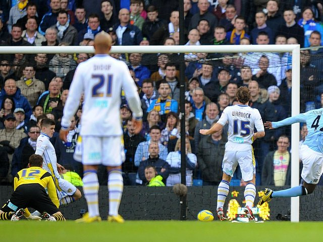 Leeds United were well beaten by Manchester City in the FA Cup back in 2013. Pic: PA