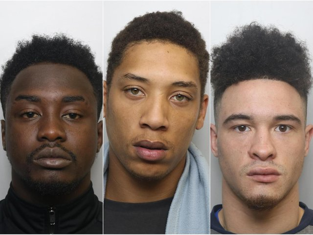 Prenda Malungo, Marlon James and Gary Lewis were jailed over the stabbing of a man on Reginald Row, Chapeltown.