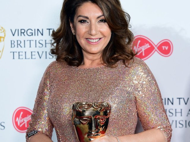 Jane McDonald with the Features award for Cruising with Jane McDonald in the press room at the Virgin TV British Academy Television Awards 2018 held at the Royal Festival Hall, Southbank Centre, London (photo: Ian West/PA Wire).