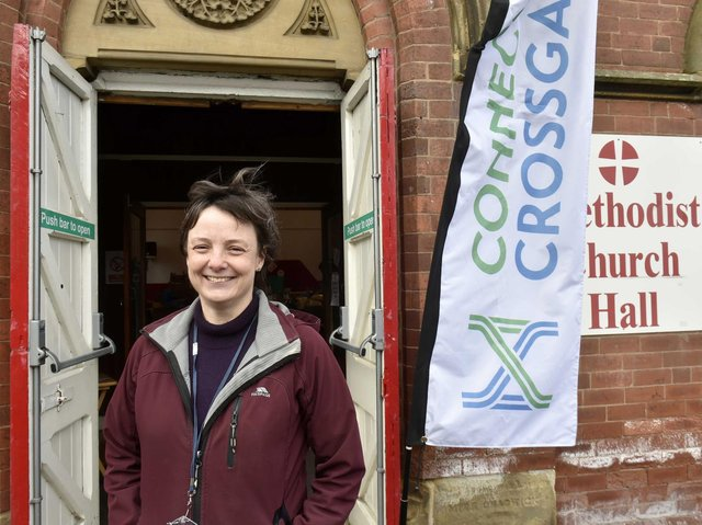 Karen Gray of Connecting Cross Gates which operates from the Methodist Church Hall.
