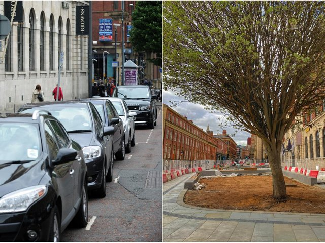 Cookridge Street in 2012, left, and now, right.