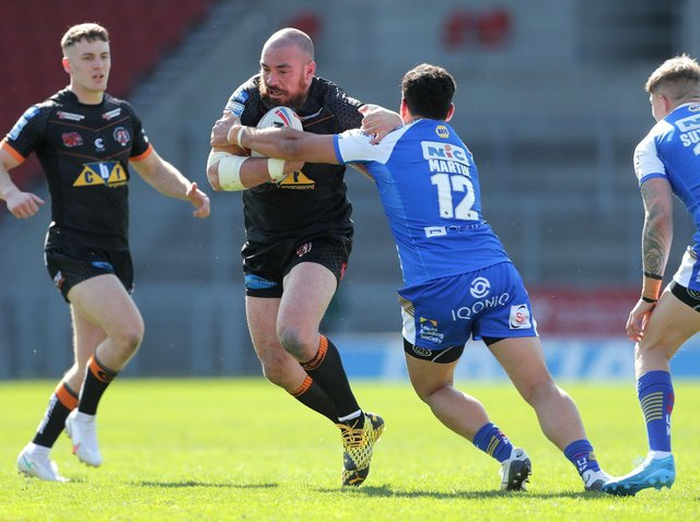 Grant Millington takes a carry in last week'#s win over Leeds. Picture by Richard Seller/PA Wire.