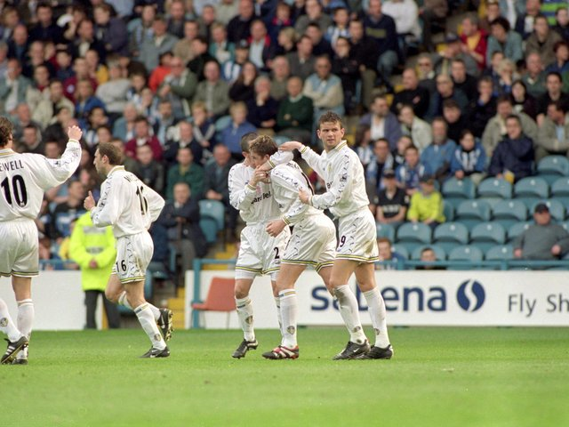 Enjoy these photo memories of Leeds United's 3-0 win against Sheffield Wednesday at Hillsbrough in April 2000. PIC: Getty