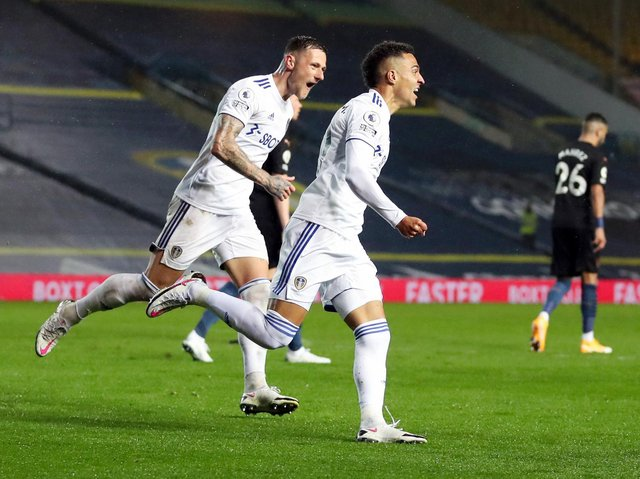 SHOCK RESULT - Leeds United drew 1-1 with Manchester City earlier in the season and arguably could have beaten their visitors, having come close to adding a second. Pic: Getty