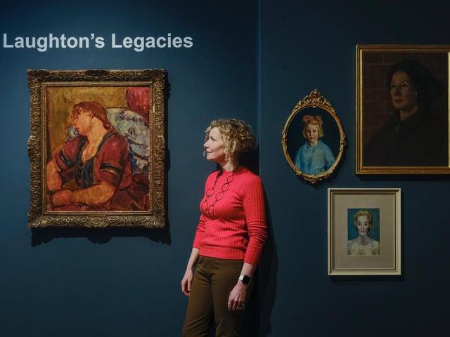 Curator of the exhibition Dorcas Taylor