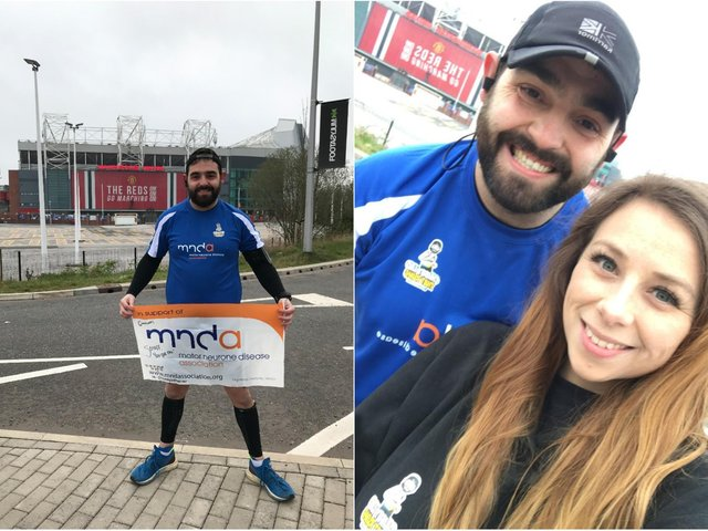 Inspired by Rob Burrow, this Leeds man has run from Old Trafford to Headingley to raise money for MND