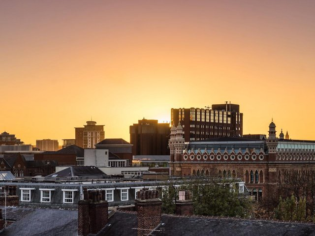 The views from The Rooftop terrace in East Parade.