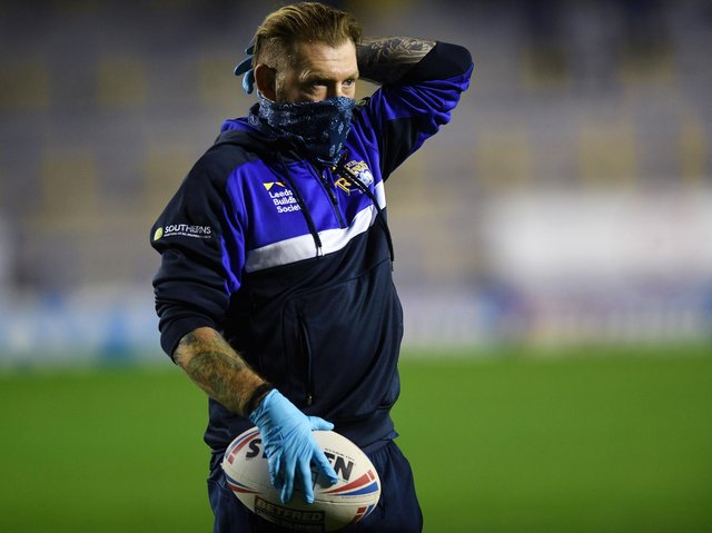 Long began his new Rhinos role in last year's play-offs tie against Catalans. Picture by Jonathan Gawthorpe.