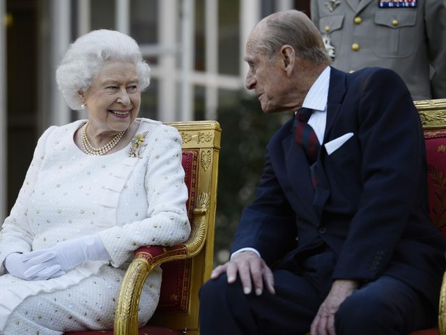 File photo dated 05/06/14 of Queen Elizabeth II and the Duke of Edinburgh attending a garden party in Paris, hosted by Sir Peter Ricketts, Britain's Ambassador to France ahead of marking the 70th anniversary of the D-Day landings during World War II. Issue date: Friday April 9, 2021. (credit: PA).