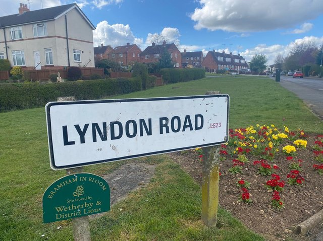 Lyndon Road, Bramham, where the incident took place