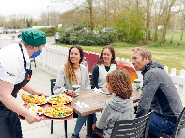 Morrisons is opening up 107 of its cafes for outdoor dining